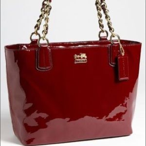 Coach Madison patent leather red bag